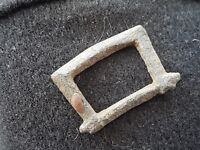 Very nice Medieval bronze buckle uncleaned condition found in Britain L40L