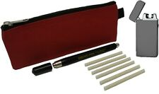 S220 Regin Smoke Pen with 6 Wicks, Flameless Rechargeable Lighter and Carry Case