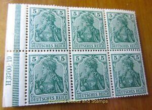 EBS Germany 1915 - Germania - 5 Pfennig - Michel 85 II HAN H 3700.19 MNH**