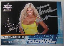 Torrie Wilson Signed WWE 2002 Fleer Raw vs SmackDown Card #40 WWF Diva Autograph