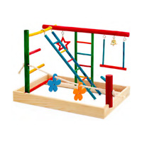 Birdie Play Gym Medium Bird Toy Perch Cage