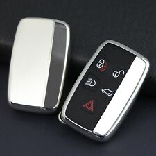 Silver Car Key Fob For Land Range Rover Jaguar Cover Case Holder Accessories