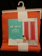 """Pillowfort Twill Melon Coral Light Blocking Window Panel Curtain 42""""x 84"""""""