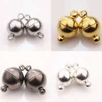 5/10 Sets Silver/Gold Plated Round Ball Magnetic Clasps Jewelry Findings Decor