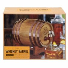 WHISKEY WOOD BARREL & STAND NEW VINTAGE LOOK 800ML DRINK DISPENSER FUNNEL SPOUT