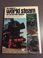 The Twilight of World Steam Engine Locomotive Train Railroad 1978 Hardcover