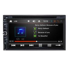 "HIZPO Head Double 2Din 7"" Car Stereo Radio DVD Player iPod BT Ipod TV Mic MP3"