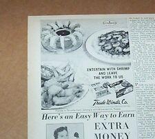1964 print ad - Trade Winds Seafood breaded shrimp Thunderbolt GA advertising