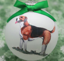D095 Hand-made Christmas Ornament dog - American Foxhound - Happy standing