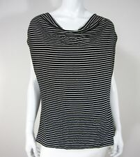 Marks & Spencer Portfolio sleeveless blouse Top black white striped 16 UK 14 US