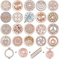 33MM Round Crystal My Coins Charms Pendant For Locket Necklace Holder Jewellery