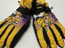 New Minnesota Vikings NFL Size SMALL MED Winter Ski Gloves Tailgate Game Mens