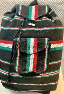 Mexican Backpack (Mochila) Handwoven backpack RASTA Surfer Hippie