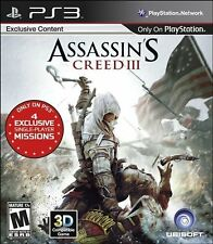 Assassin's Creed III (PlayStation 3, PS3) - NEW - FREE SHIPPING
