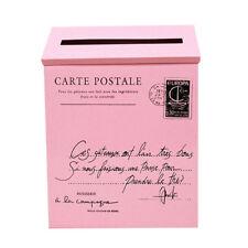Wall Mounted Locking Mailbox 12 Inches Drop Letterbox Metal Post Box w/Key