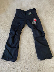686 Smarty 3-in-1 Charcoal Black cargo Snowboard Pants Men's Size S NEW