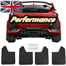 4X Wide Racing Rally Car Performance Mudflaps Mud Flaps Guard Universal W/Clips