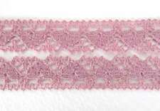 Vintage Lace Heart Trim Rose Pink Heart Cluny Lace Trim 5/8 inch