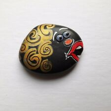 """One of The Kind Hand Painted Emoji Rock Art And Quote """"I Sing My Heart And Soul"""""""