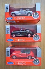 WELLY NEX PULL BACK 1955 MERCEDES 300S DIECAST MODEL IN RED SILVER Or BLACK 1/43