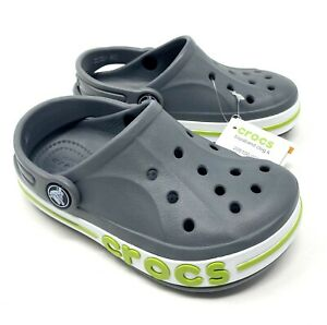Crocs Bayaband Clog Gray/Volt Green Boys Size 8, 9, 11, 12 NEW