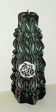 Rose decor candle Unique handmade gift candle Hand Carved candles 8 inch/20cm