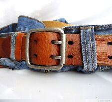 Genuine vintage bull Leather belt 43mm Waist handmade classict size XL retro 60s