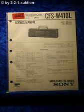 Sony Service Manual CFS W410L Cassette Recorder (#3463)