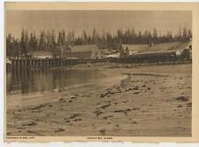 ANTIQUE YAKUTAT BAY SOUTHEASTERN ALASKA PRINCE WILLIAM SOUND HARBOR OLD PRINT