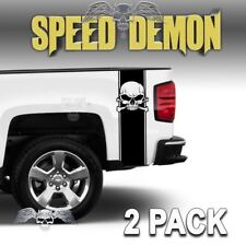 Skull Truck Accessories Skull Crossbones Truck Decal Truck Bed Stripes Set of 2