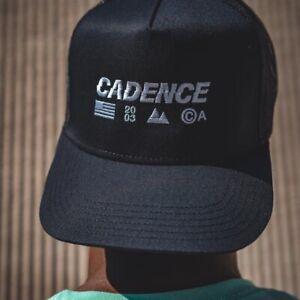 cadence collection, Offset Drop Trucker Hat, Black Adjustable SnapBack