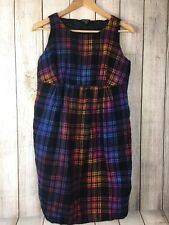 Women's A Pea In The Pod Wool Plaid Multi Colored Sleeveless Maternity Dress L