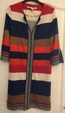 Diane Von Furstenberg Stripped Silk Jersey Dress Size US 8/UK 12