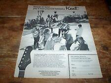 KENT GUITAR / AMPS ( BEACH combo ) ORIG 1966 U.S. Vintage magazine PROMO Ad NM