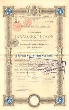 Jaradekkolcsson > Budapest Hungary stock certificate share scripophily