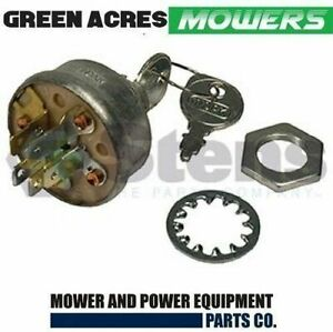 RIDE ON MOWER UNIVERSAL IGNITION SWITCH 5 SPADE TERMINALS 3 POSITION TYPE