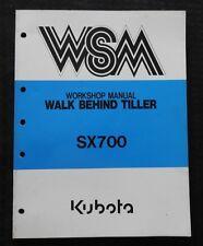Original Kubota Sx700 700 Walk Behind Rotary Tiller Service Repair Manual Nice