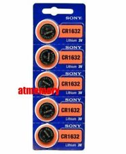 Sony CR1632 CR 1632 3V Coin Cell Button Battery x 5pcs Japan Genuine Exp.2027