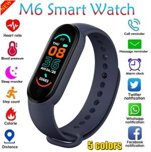 Magic!M6 Smart Bracelet Watch Fitness Tracker HeartRate BP Monitor Waterproof-