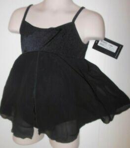 Bloch Camisole empire dress CL8080 Black Girls sizes ballet classwear splitfrnt