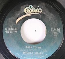 Country 45 Mickey Gilley - Talk To Me / Honky Tonkin' (I Guess I Done Me Some) O
