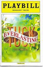 Tuck Everlasting Broadway Playbill, Opening Night Date