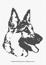 Crochet Patterns - GERMAN SHEPHERD GRAPH PATTERN CHART