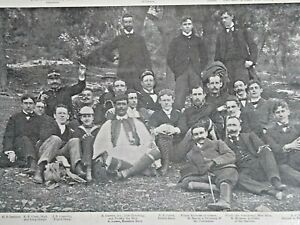 1896 Olympic American and Greek Victors  Contestants Officials Magazine Photo