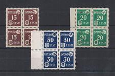 1941 Estland No. 1/3 Rare Muh Block Four Set