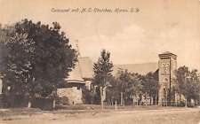 Huron South Dakota Episcopal And M E Churches Antique Postcard K13420