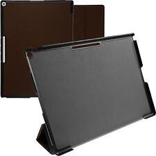 Artificial Leather Case for Google Pixel C - Tri-Fold brown + protective foils