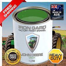 IRON GARD 1L Enamel Paint JOHN DEERE GREEN Excavator Digger Loader Tractor Farm