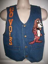Tennessee Vols Smoky Blue Denim Jean Vest Size S