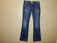 HUDSON SIGNATURE BOOTCUT Triangle Pocket FELIX Distressed Women's JEANS SZ 27!!